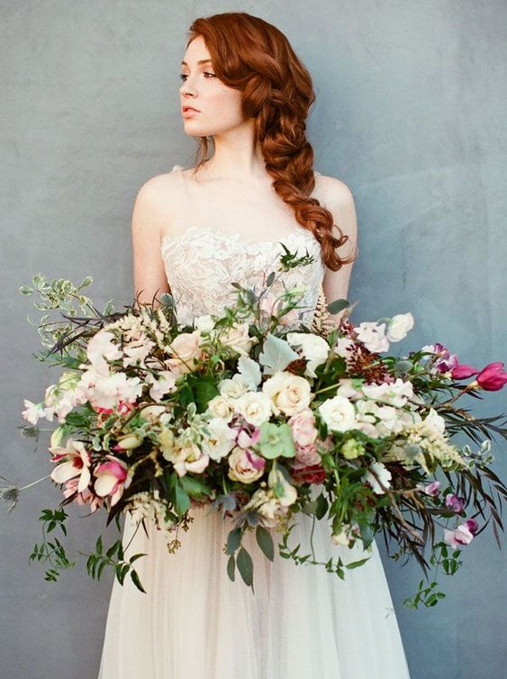 Bouquet sposa oversized