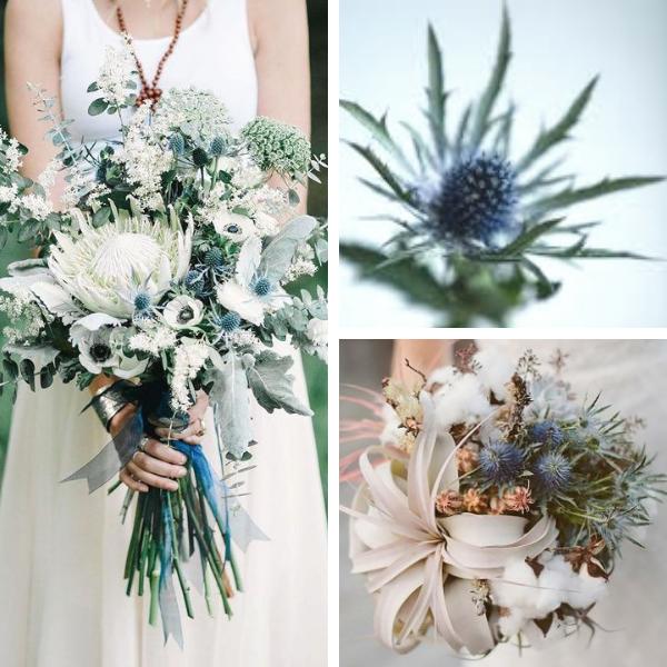 Bouquet sposa con eryngium