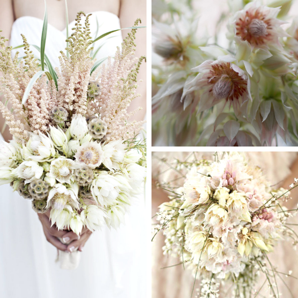Bouquet sposa con serruria florida