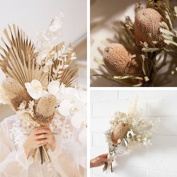 Bouquet sposa con banksia